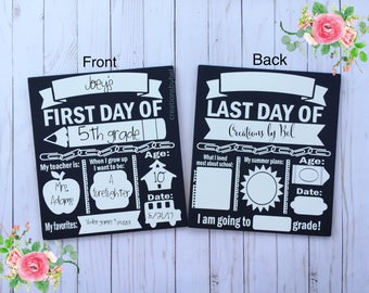 First Day of School Sign, First/Last Day of School Sign, Customized Back to School Dry Erase Board, Back to School Board, Back 2 School sign
