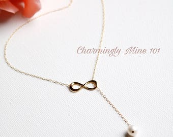 """14k gold filled """"Y"""" necklace. Lariat necklace. Personalized jewelry. Initial necklace. Personalized gift. Hand stamped necklace"""