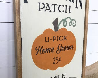 Farmhouse Pumpkin Patch Sign | Farmhouse Decor, Fall Decor, Thanksgiving Decor, Hand Painted