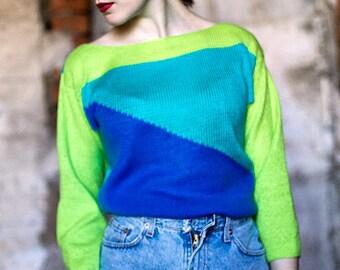 Bright geometric pullover