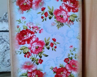 notebook floral shabby pastel tone