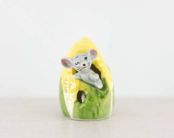Kitsch Mouse Ornament - Collectable - Corn - Cute - Kitchenware - Figurine