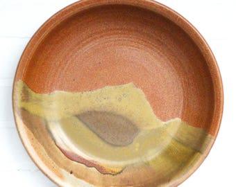Large Studio Pottery Plate by David Enna / Large Bowl / Serving Platter / Stoneware