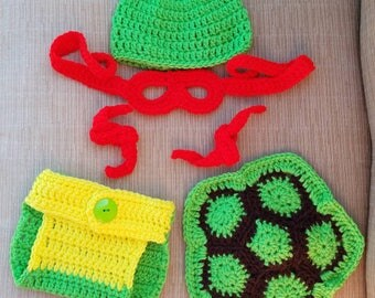 Crochet Ninja Turtle Set