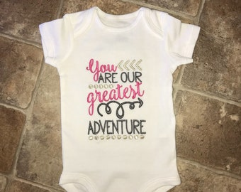 You Are Our Greatest Adventure NewbornTribal Arrow Bodysuit-New Arrival Gift-Baby Shower Gift-Baby Girl-Baby Boy