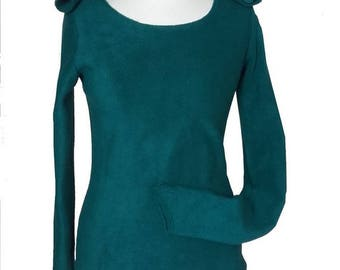 """""""Gary"""" oil sleeves sweater fingerless mittens, hood Elf fairy Sanlivine"""
