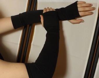 Fingerless gloves Black jersey