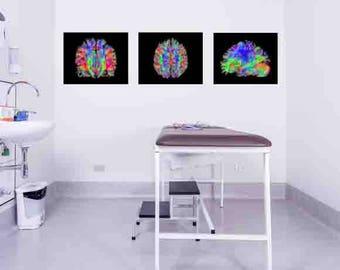 Brain, art, brain scan, medical poster, brain, brain office decor, medical ,print, brain print, medical gift, human brain,