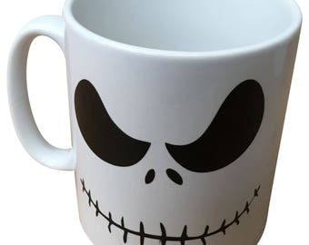 "Get this ""I'm a nightmare before coffee"" mug, they're not just for Christmas - Jack the pumpkin king based funny mug"