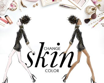 Change Skin Color - Add-On to the Watecolor Clipart Section - KaramfilaS Fashion Clipart Planner Stickers Supplies