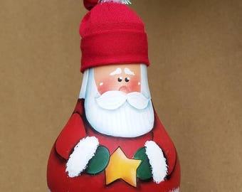 Santa Light Bulb Ornament