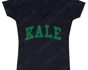 ON SALE - Kale (green) - Ladies' V-Neck