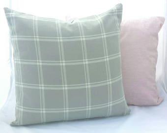 Beige and Ivory Plaid Cushion Cover. Multiple sizes available.