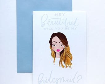 Private listing for Alexa: custom bridesmaid cards, will you be my bridesmaid, personalized bridesmaid cards, bridesmaid gifts