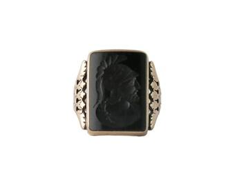 Victorian Rose Gold Carnelian Intaglio Men's Ring