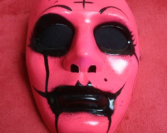 Pink Femme Fatale Style Halloween Mask Inspired by The Purge Movies Fluorescent Rave