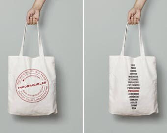 Incorrigibles Tote Bag, the Incorrigibles Project