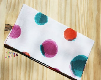 Checkbook fancy white multi-colored bubble