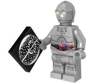 Silver C-3PO Star Wars Custom Minifigure 100% Lego Compatible!