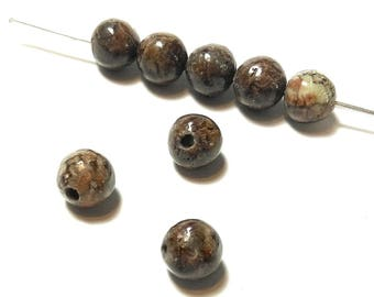 20 Red 6mm Obsidian beads