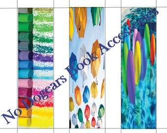 Happy Colorfuls Printable Bookmarks / Printable Bookmarks / DIY Bookmarks / Print at Home Bookmarks
