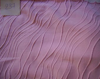 NO. 237 FABRIC IN LIGHT PINK STRETCHY POLYAMIDE HAS RELIEFS WAVES PATTERNS