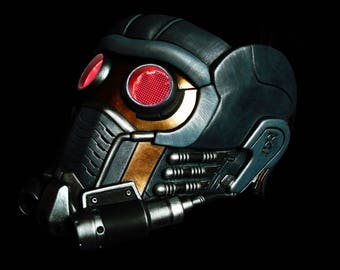 Guardians of the Galaxy Star Lord Mask Helmet with Glow Glasses Custom painted Prop Replica