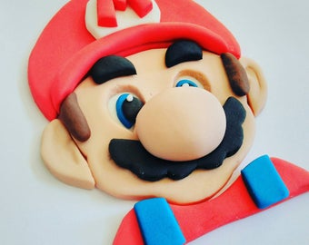 mario cake topper etsy. Black Bedroom Furniture Sets. Home Design Ideas