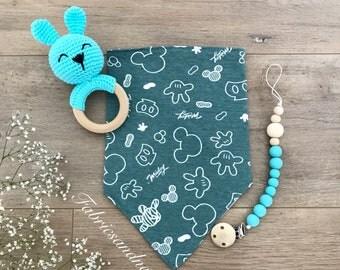 Baby shower Gift Set, Newborn Gift set,Handmade Teethinng Ring Rattle, Handmade rattle, handmade toys, baby toys, Crochet toys