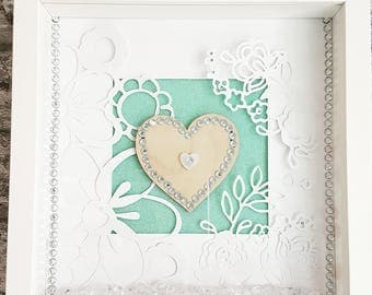 Framed Heart Art