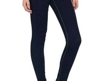 Cello Women's Fake 5 Pocket Skinny Jeans Dark Denim