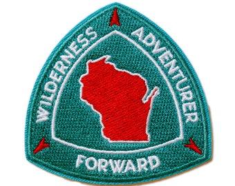 "Wisconsin Wilderness Adventurer Patch, 2.5"" Embroidered Patch"
