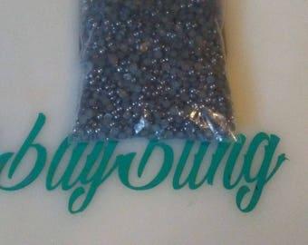 grey 3mm flatback pearls