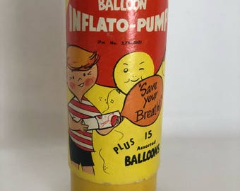 Vintage Inflato-Pump, Nostalgic Toys, Air Pump for Balloons
