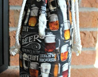 Insulated Growler Tote - Insulated Growler Bag - Beer Growler Bag - 64 Oz Growler Tote