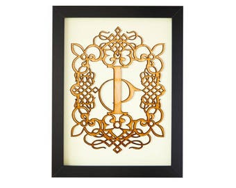 I - FRAMED MONOGRAM