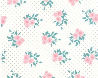 ON SALE Medium Floral Natural - KINDRED Spirits - Bunny Hill Designs for Moda Fabrics - 2891 11 - Ivory