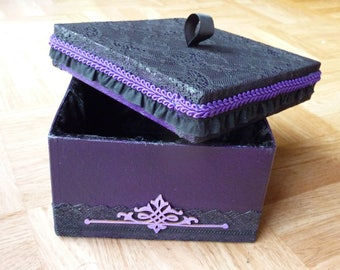 Coffet jewelry box velvet Interior