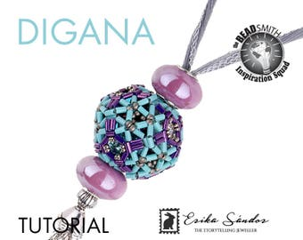 Digana beaded bead - instant dowload for the pdf instructions for a top-notch beadwork project!