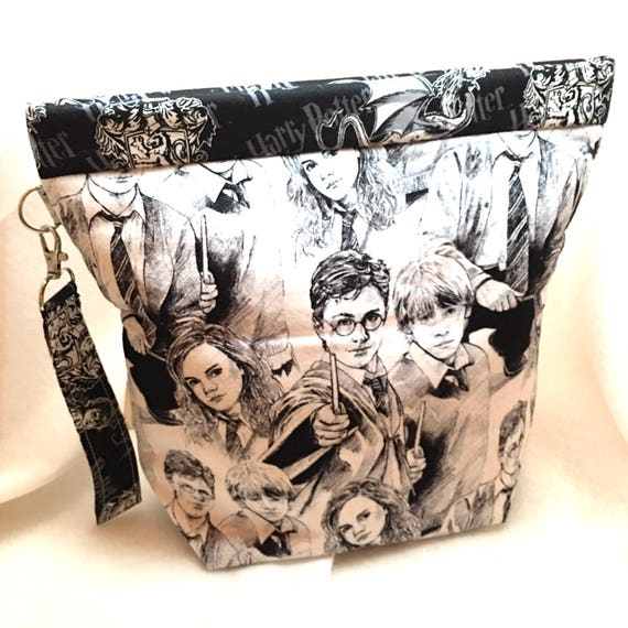 Medium Amy Snap Bag, Project Bag, Knitting Bag, Crochet Bag