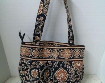 Vintage Vera Bradley Morgan style purse Brown Purse Shoulder bag purse Bucket Bag