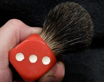 Big Red Shaving Brush - 24mm Black Badger B