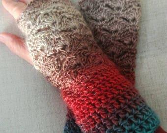 Wrist warmers, crochet wrist warmers, fingerless gloves, gift for her, winter gloves, crochet gloves, fingerless mittens, hand warmers