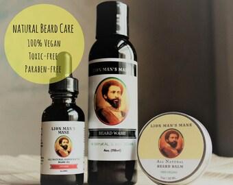 Beard Care Kit, Beard Grooming Kit, Gift Set, Fathers Day Gift, Beard Kit, Beard Oil, Beard Wash, Beard Balm, Vegan Gift, Beard Conditioner