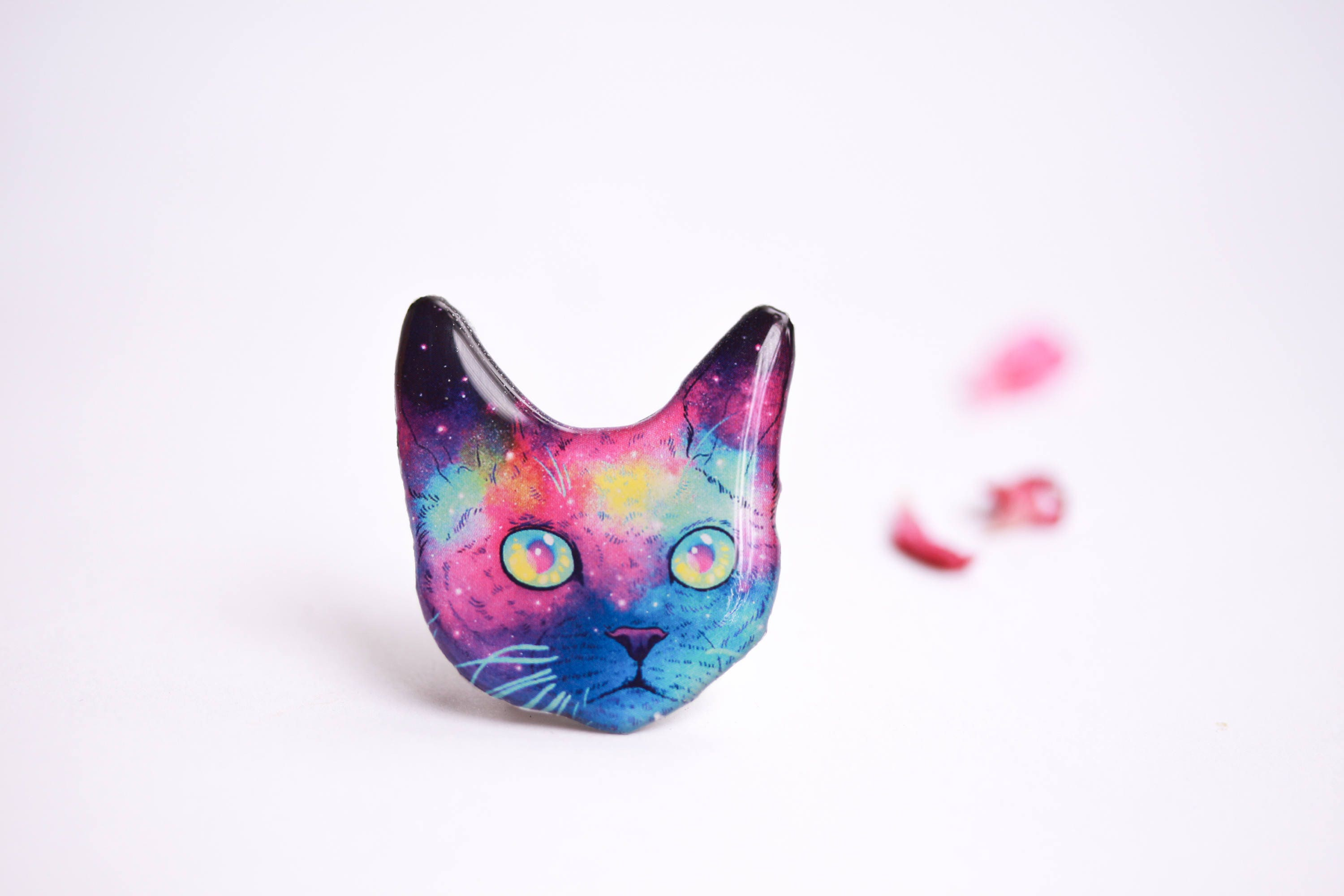 leather animal il ktiu cat fullxfull jewellery geometric jewelry statement listing ring black