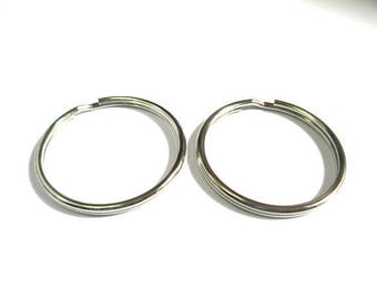 5 rings double 35mm color silver