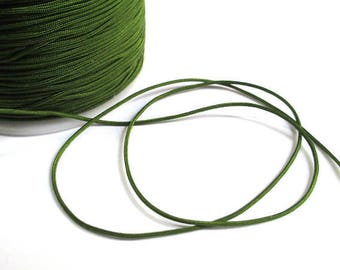 10 m nylon string Green Khaki 1 mm