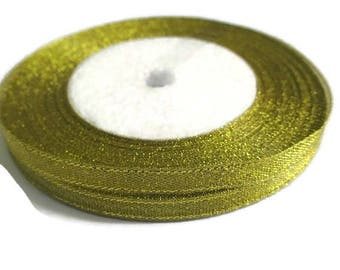 23 m 6mm gold metallic organza Ribbon Spool in