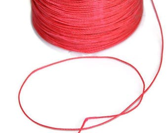 10 meters wire fuchsia 0.5 mm polyester cord