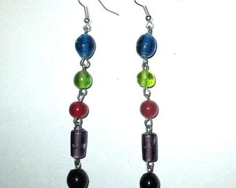ღ ღ glass earrings / unique